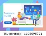 creative website template... | Shutterstock .eps vector #1103095721