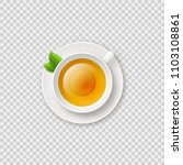 realistic shiny tea cup with... | Shutterstock .eps vector #1103108861