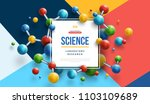 science banner with square... | Shutterstock .eps vector #1103109689