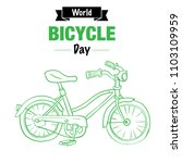 world bicycle day  for poster... | Shutterstock .eps vector #1103109959