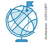 globe icon concept. planet or... | Shutterstock .eps vector #1103111897
