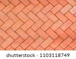 red orange bricks tiled floor... | Shutterstock . vector #1103118749