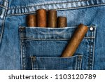 pocket of jeans staffed with... | Shutterstock . vector #1103120789