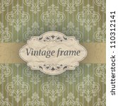 vintage frame | Shutterstock .eps vector #110312141