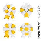 yellow   white vector detailed... | Shutterstock .eps vector #110312471