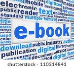 e book poster conceptual design....   Shutterstock . vector #110314841