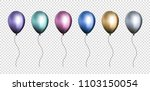 isolated 3d realistic colorful... | Shutterstock .eps vector #1103150054