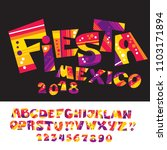 cool carnival or fiesta abc for ... | Shutterstock .eps vector #1103171894
