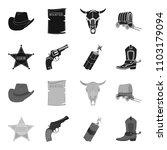 star sheriff  colt  dynamite ...   Shutterstock .eps vector #1103179094