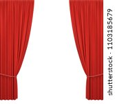 red stage curtains | Shutterstock .eps vector #1103185679