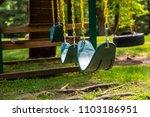 swings swing set play ground... | Shutterstock . vector #1103186951