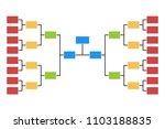 tournament bracket 8 team icon... | Shutterstock .eps vector #1103188835