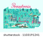 Illustrated Map Of Pennsylvania ...