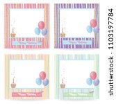 happy birthday card  cute... | Shutterstock .eps vector #1103197784
