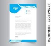 simple blue color vector letter ... | Shutterstock .eps vector #1103198234