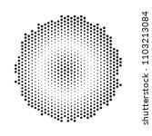 circular halftone pattern ... | Shutterstock .eps vector #1103213084
