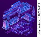 vector 3d isometric city in... | Shutterstock .eps vector #1103224919
