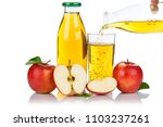 apple juice pouring pour apples ... | Shutterstock . vector #1103237261