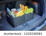 black bag basket full of... | Shutterstock . vector #1103238581