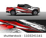 pick up truck decal vector ... | Shutterstock .eps vector #1103241161