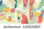 creative doodle art header with ... | Shutterstock .eps vector #1103243837