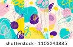 creative doodle art header with ... | Shutterstock .eps vector #1103243885