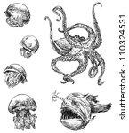 sea animals | Shutterstock . vector #110324531
