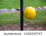 Tether Ball Yellow Grass Green...