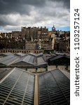 view of edinburghs market... | Shutterstock . vector #1103257124