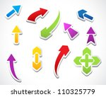 color template arrows stickers... | Shutterstock . vector #110325779