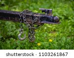 trailer hitch chain tow chains... | Shutterstock . vector #1103261867