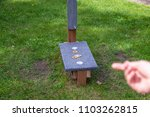washer toss game fun bag yard... | Shutterstock . vector #1103262815