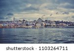 sea front landscape of istanbul ... | Shutterstock . vector #1103264711