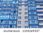 modern multi storey house with... | Shutterstock . vector #1103269337