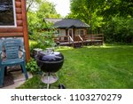 charcoal grill cabin outdoor... | Shutterstock . vector #1103270279