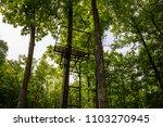 deer stand hunting metal woods... | Shutterstock . vector #1103270945