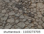 cracked drive way road pavement ... | Shutterstock . vector #1103273705