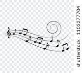 music notes  design element ... | Shutterstock .eps vector #1103277704