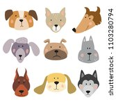 set of funny cartoon dogs on... | Shutterstock .eps vector #1103280794