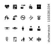 medical icon set 2 black | Shutterstock .eps vector #1103281334