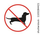 no dogs sign on the white... | Shutterstock . vector #1103284421