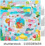 vector illustration  game board ... | Shutterstock .eps vector #1103285654