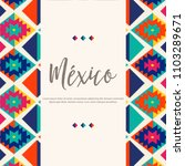 colorful tribal embroidery... | Shutterstock .eps vector #1103289671