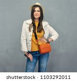 fashion style portrait of... | Shutterstock . vector #1103292011