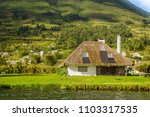 outdoor view of typical house... | Shutterstock . vector #1103317535