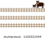 the title frame of the ranch. i ... | Shutterstock .eps vector #1103321549