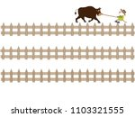 the title frame of the ranch. i ... | Shutterstock .eps vector #1103321555