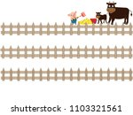 the title frame of the ranch. i ... | Shutterstock .eps vector #1103321561