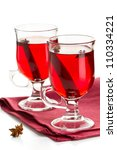 hot spiced red drink on a napkin | Shutterstock . vector #110334221