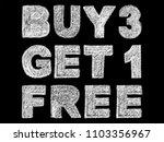 handwritten white bold chalk... | Shutterstock . vector #1103356967